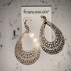 NWT Gold statement earrings